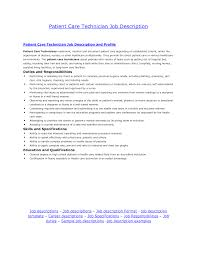 Sample Resume For Patient Care Technician Dialysis Patient Care