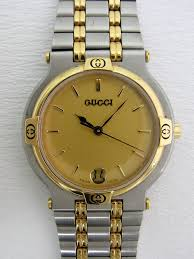 gucci 9000m. gucci round conbination for men 9000m (pre-owned watches) 9000m