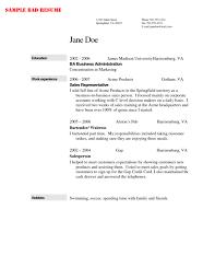 Bartender Resume Example Template Resume Builder