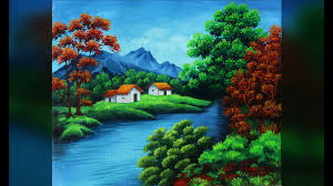 acrylic painting tutorial landscape acrylic painting tutorial for senior