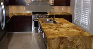 wooden cabinets and granite countertops