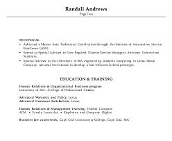 Automotive Service Manager Resume Resume Sample