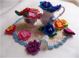 Crochet Flowers New Design Art Threads Monday Project Crocheted May Flowers
