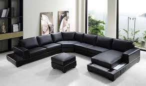 black sectional sofa. Contemporary Black VGRZ Modern Black Sectional Sofa Intended
