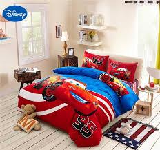 awesome lightning mcqueen cars bedding set cotton bedclothes cartoon disney bedding sets designs