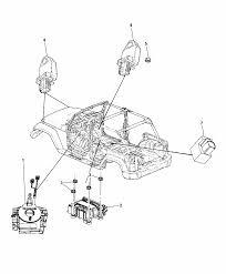 2016 jeep wrangler air bag modules impact sensor clock springs