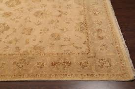 rugsville persian hand knotted beige wool rug 8 x 10
