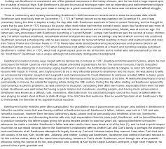 essay on beethoven music arts music ludwig van beethoven term paper 3101 custom essay
