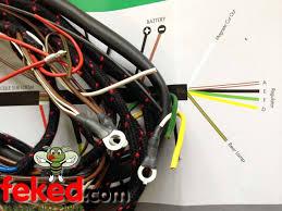 electrical wiring harness triumph wiring harness genuine genuine lucas main wiring harness triumph pre unit t100 t110 t120 1955 59 lu54934815