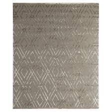 exquisite rugs metro velvet modern classic diamond pattern beige wool rug 6 x 9