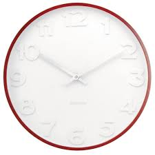 mr white wall clock with wooden case