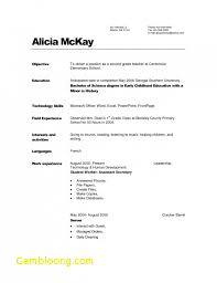 Objective For Childcare Resume