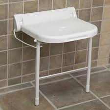 fold down shower chair. large wall-mount folding shower seat with legs - ada compliant white bathroom fold down chair