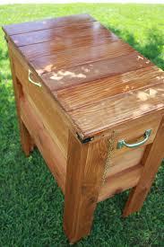 outdoor wooden cooler