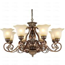 fashionable vintage chandeliers rustic 8 light resin and wrought iron