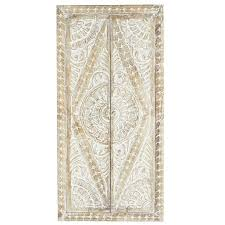 whitewashed carved wood doors wall decor pier 1 imports