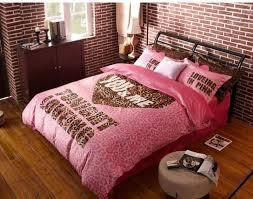 image of cute pink cheetah print bedding