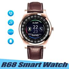 r68 smart watch leather wrist men outdoor sport smarch sleep tracker call reminder watches support sim card tf card for android ios smart watches pebble