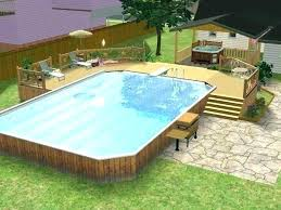 Backyard Deck Design Ideas New Above Ground Pool Deck Designs Above Ground Pool Deck Plans Above