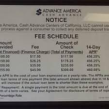 Advance America Rate Chart Advance America Cash Advance Irvine Ca Last Updated