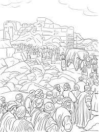 Jozuas Inname Van Jericho Kleurplaat Gratis Kleurplaten Printen