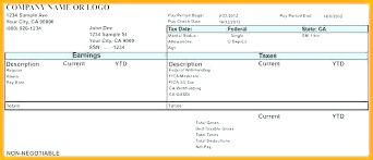 Pay Stub Templates Excel Paycheck Stubs Templates Free Payroll Pay Stub Template