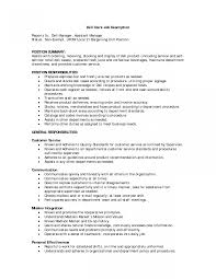Customer Service Clerk Sample Resume Customer Service Clerk Sample Job Description File Resume 10