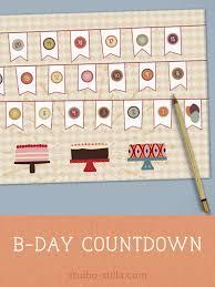 Birthday Countdown Calendar Printable