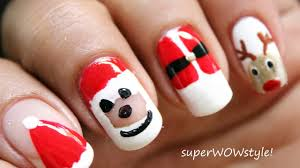 NO TOOLS!! ✦ Santa Nail Designs ✦ Christmas Nail Art Tutorial ...