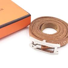hermes palladium h belt leather wrap bracelet