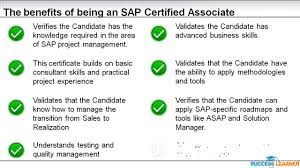 003 the benefits of being a sap certified associate project 003 the benefits of being a sap certified associate project manager