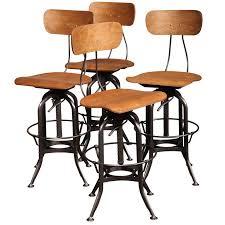 set of 4 original vintage toledo bar stools for