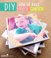 how to make photo coasters diy card blog