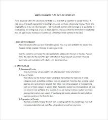 Business Plan Sample In Word Format Template Powerpoint Example ...