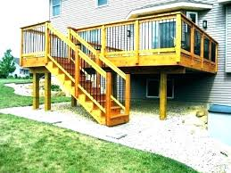 prefab wooden porch steps outdoor wood with handrails front how to build prefabricated backyard ready made deck