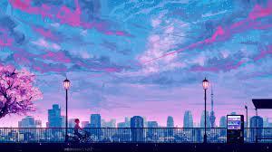 Anime Cityscape Landscape Scenery 4k ...