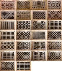 pattern cut grills wood return air grill