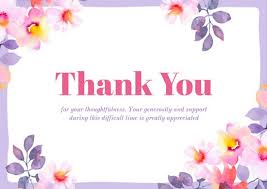 Thank You For Sympathy Card Customize 139 Sympathy Card Templates Online Canva