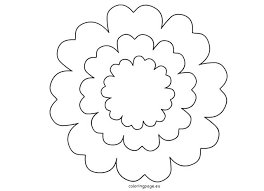 Paper Flower Printables Template Large Printable Paper Flower Templates Template Petal