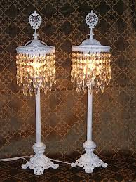 beautiful crystal chandelier table top lamps for garden and small room