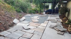 loose flagstone patio. Brilliant Patio Flagstonepatioprogress3 To Loose Flagstone Patio I