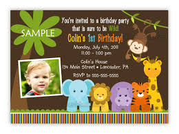 jungle birthday invitations invitation letter for st birthday party invitation sle words first birthday party invitation
