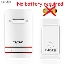 <b>CACAZI Wireless Door Bell</b> No Battery Need Water-proof <b>Door Bell</b> ...