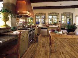 Rustic Kitchen Floors Kitchen Prepare Your Awesome Laminate Hardwood Floors In Kitchen