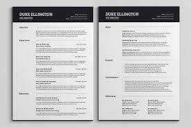 2 Page Resume Template Coverletter Chic Templates All Best Cv