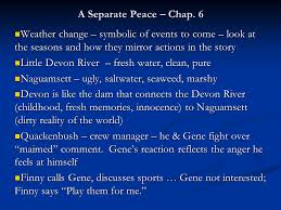 a separate peace chap weather change symbolic of events to  1 a separate peace