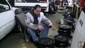 how to re steel wheels rust removal and spray painting