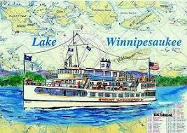 Details About Ms Mount Washington Art Print Lake Winnipesaukee Cruise Ship Laconia Nh Gift M S