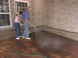 Concrete Stain Designs How To Apply Concrete Stain How Tos Diy