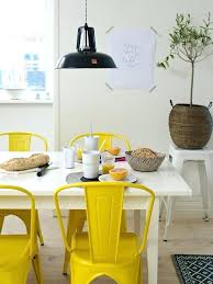 yellow dining chairs industrial colorful kitchen with metal set of 4 and vine chair room uk